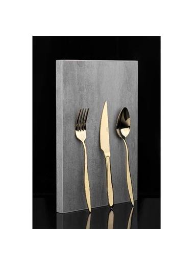 Taç Odion Sebla 36 Parça Çatal Kaşık Bıçak Seti Gold Altın